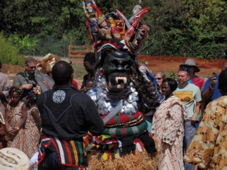 Masquerade at Igbo Farm Village