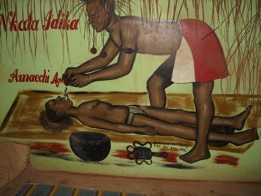 Igbo boy being healed by a Dibia