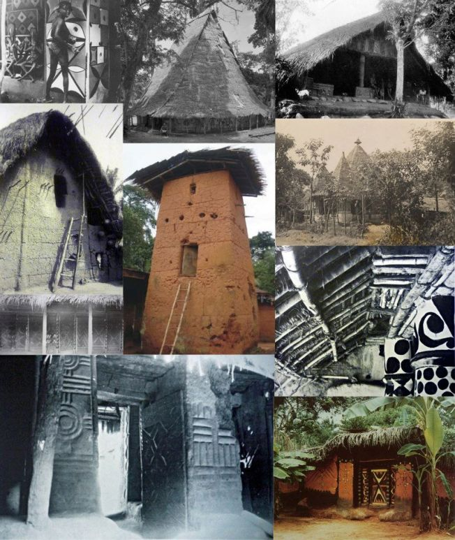 Montage of Igbo traditional architecture