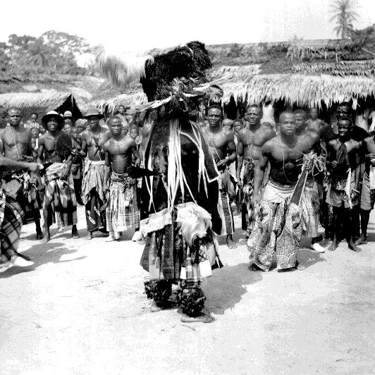 Obiri Jack mask (close-up) Ogbukele festival, Ekpafia Igbo